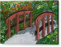 Acrylic Print featuring the painting Crossing Over by Lynn Babineau