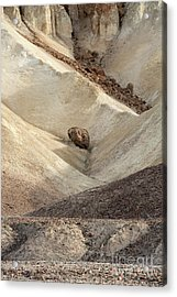 Acrylic Print featuring the photograph Crossing Paths - Death Valley by Sandra Bronstein