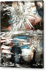 Crossing Spheres Acrylic Print by Anne-D Mejaki - Art About You productions