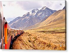 Acrylic Print featuring the photograph Crossing The Andes by Nigel Fletcher-Jones