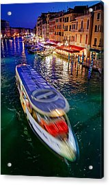 Crossing The Grand Canal Acrylic Print
