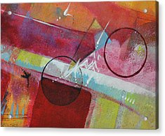 Acrylic Print featuring the painting Crossing The Line by Kate Word