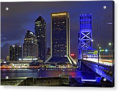 Crossing The Main Street Bridge - Jacksonville - Florida - Cityscape Acrylic Print