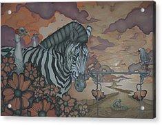 Crossing The Mara Acrylic Print