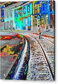 Crossing The Tracks Acrylic Print