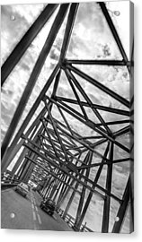 Acrylic Print featuring the photograph Crossing Through The Chesapeake Bay Bridge by T Brian Jones
