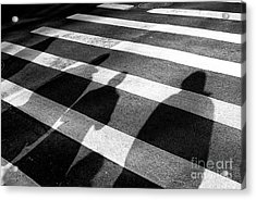 Acrylic Print featuring the photograph Crossings Shadow People by John Rizzuto