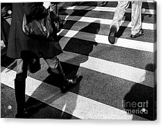 Acrylic Print featuring the photograph Crossings Shadow First by John Rizzuto