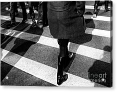 Acrylic Print featuring the photograph Crossings Black Boots by John Rizzuto