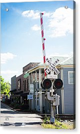 Acrylic Print featuring the photograph Crossings In Old Town Helena by Parker Cunningham