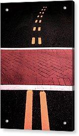 Crosswalk Conversion Of Traffic Lines Acrylic Print