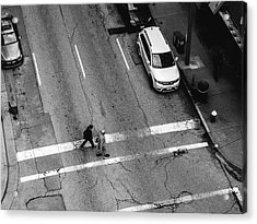 Crosswalk From Above Acrylic Print by Dylan Murphy