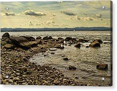Croton Coastline Acrylic Print by Alexander Mendoza