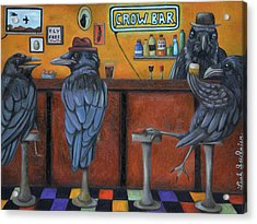 Acrylic Print featuring the painting Crow Bar by Leah Saulnier The Painting Maniac