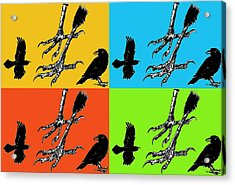 Crow Feet Four Acrylic Print by Diana Ludwig
