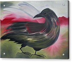 Crow Acrylic Print by Karen MacKenzie