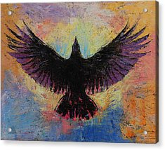 Crow Acrylic Print by Michael Creese