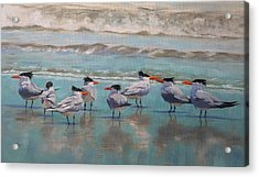Acrylic Print featuring the painting Crowd Control by Pam Talley