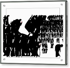 Crowd Acrylic Print by Olena Kulyk