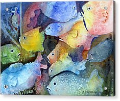 Crowded Space Acrylic Print by Arline Wagner