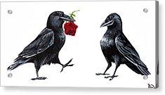 Crowmance Acrylic Print