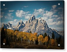 Crown For Tetons Acrylic Print by Edgars Erglis