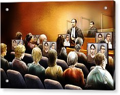 Crown Kevin Gowdey Delivers Opening Address At The Rafferty Trial Acrylic Print by Alex Tavshunsky