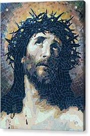 Crown Of Thorns 2 - Ceramic Mosaic Wall Art Acrylic Print by Mai Nhon