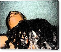 Crowned Acrylic Print by Fania Simon