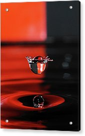 Crowned Water Droplet Acrylic Print