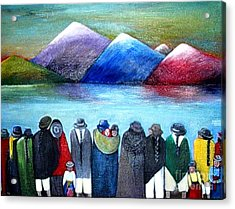 Crowned Lake Acrylic Print by Patricia Velasquez de Mera