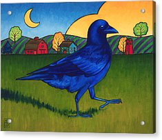 Crows Run Acrylic Print by Stacey Neumiller