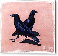 Crows Acrylic Print by Sandi Baker