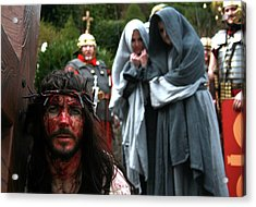 Crucification Acrylic Print by Keith O Rahilly