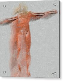 Crucified Anonymous Acrylic Print by Joaquin Abella