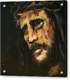Crucified Jesus Acrylic Print by Carole Foret