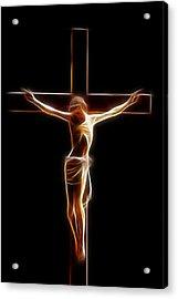 Crucified Jesus Acrylic Print by Stefan Kuhn
