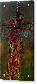 Crucified Acrylic Print by Paul Freidin