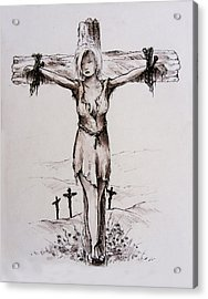 Crucified With Christ Acrylic Print