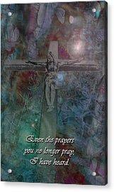 Crucifix 2 Acrylic Print