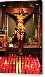 Crucifix At Notre Dame Acrylic Print