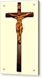 Crucifix Acrylic Print by Henryk Gorecki