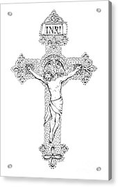 Crucifix Acrylic Print by Jenny McLaughlin