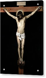 Acrylic Print featuring the digital art Crucifixion by Diego Velazquez