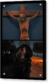 Crucifixion Acrylic Print by James W Johnson