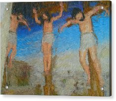 Crucifixion Acrylic Print by Mike La Muerte Giuliani