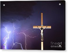 Crucifixion Of Jesus  Acrylic Print by James BO  Insogna