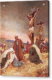 Crucifixion Acrylic Print by William Brassey Hole