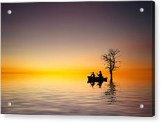 Acrylic Print featuring the pyrography Cruise by Bess Hamiti
