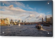Cruise On The Thames Acrylic Print by Maggie McCall